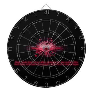 Dartboard coeur rose vif et noir jeux de fléchettes