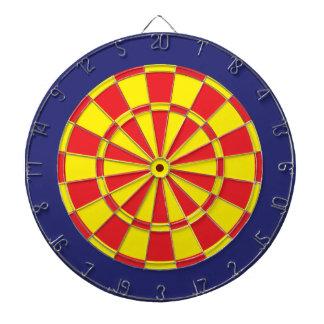 Dartboard: Geel, Rood, en Marineblauw Dartbord