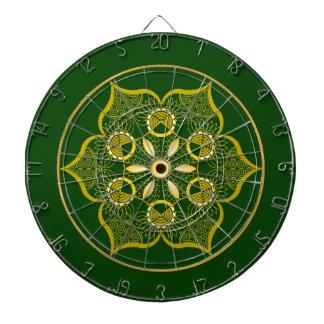 Dartboard. vert cibles de fléchettes