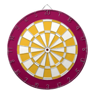 Dartboard: Wit, Goud, en Bourgondië Dartbord