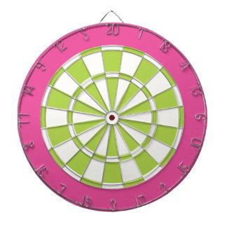 Dartboard: Wit, Limoen, en Roze Dartbord