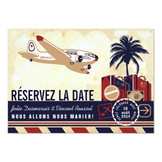 Date de La de Airline Mariage de Destination Carton D'invitation 12,7 Cm X 17,78 Cm