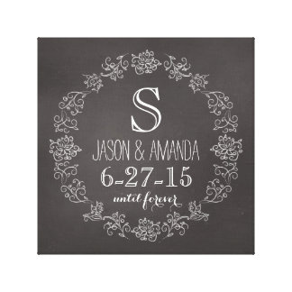 Date de mariage personnalisée de monogramme de toiles