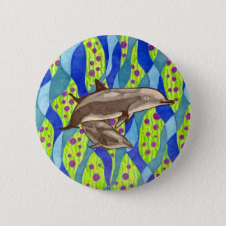 dauphin badge rond 5 cm