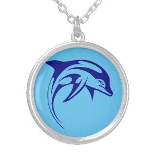 Dauphin bleu collier