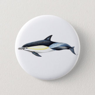 Dauphin commun Delphinus delphis Badge Rond 5 Cm