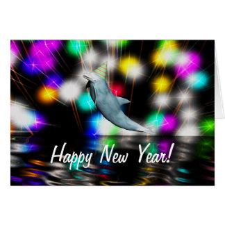 Dauphin de bonne année carte de vœux