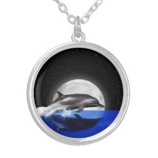 Dauphin de lune collier