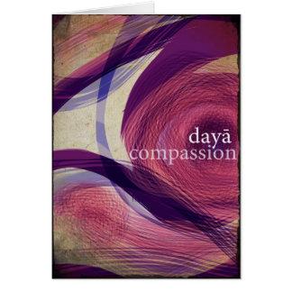 dayā/medeleven wenskaart