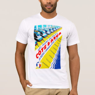 d'Azur de Côte de ~ de Les Trains du Soleil T-shirt