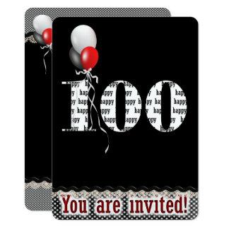 de 100ste Uitnodiging van de Verjaardag