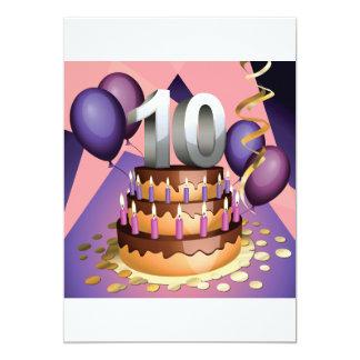 de 10de Uitnodigingen van de Cake van het Jubileum