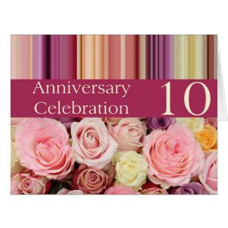 de 10de verjaardag nam uitnodiging toe extra grote wenskaart