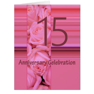 de 15de verjaardag nam uitnodiging toe extra grote wenskaart