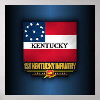 de 1st Infanterie van Kentucky Poster