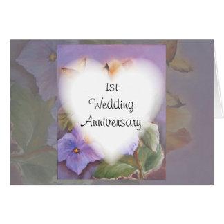 de 1st kaart van de huwelijksverjaardag