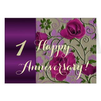 de 1st rozen van de huwelijksverjaardag