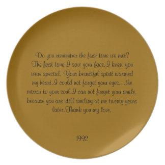 de 20ste Plaat van het Jubileum Melamine+bord
