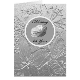 de 25ste Uitnodiging van het Jubileum -- Zilveren Wenskaart