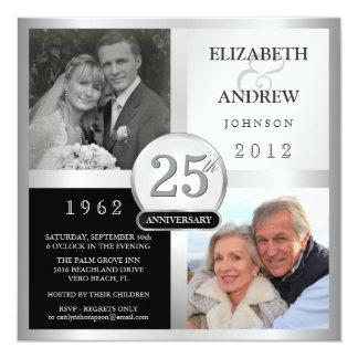 de 25ste Uitnodigingen van de Partij van het 13,3x13,3 Vierkante Uitnodiging Kaart