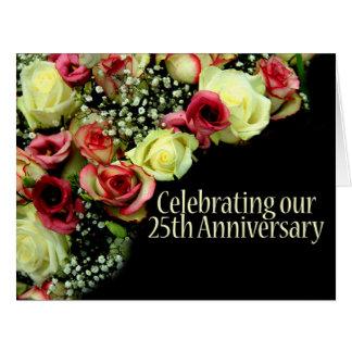 de 25ste verjaardag nam uitnodiging toe extra grote wenskaart