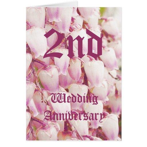 de 2de kaart van de huwelijksverjaardag - Lelietje