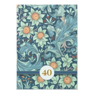 de 40ste huwelijksverjaardag nodigt uit 12,7x17,8 uitnodiging kaart