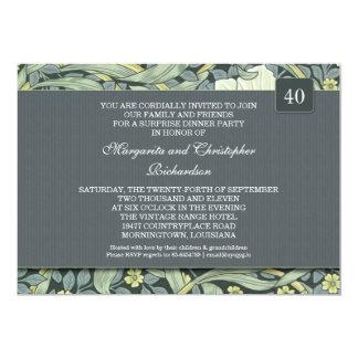 de 40ste uitnodigingen van de huwelijksverjaardag 12,7x17,8 uitnodiging kaart