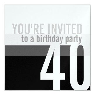 de 40ste {Zilveren} Uitnodigingen van de Partij