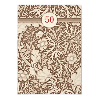 de 50ste uitnodigingen van de huwelijksverjaardag