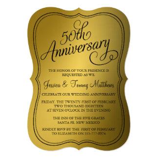de 50ste Uitnodigingen van het Jubileum van de