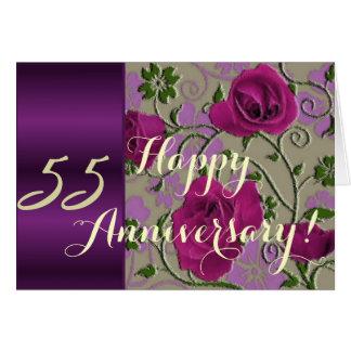 de 55ste rozen van de huwelijksverjaardag