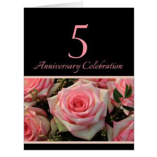 de 5de verjaardag nam uitnodiging toe extra grote wenskaart
