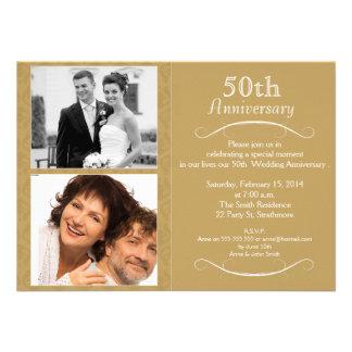 de 5oste Uitnodiging van de huwelijksVerjaardag