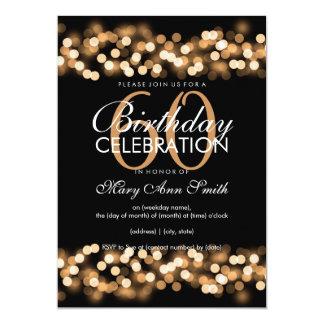 de 60ste Partij van de Verjaardag Faux Gouden 12,7x17,8 Uitnodiging Kaart