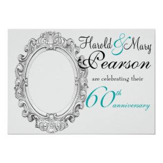 de 60ste uitnodiging van de huwelijksverjaardag
