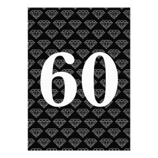 de 60ste uitnodigingen van de huwelijksverjaardag