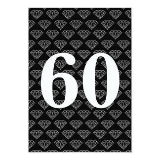 de 60ste uitnodigingen van de huwelijksverjaardag 12,7x17,8 uitnodiging kaart
