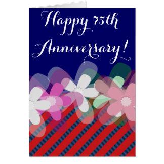 de 75ste bloemen van de huwelijksverjaardag notitiekaart