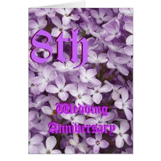 de 8ste kaart Hydranga van de huwelijksverjaardag