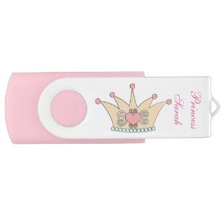 De Aandrijving van USB van de Kroon van de prinses Swivel USB 2.0 Stick