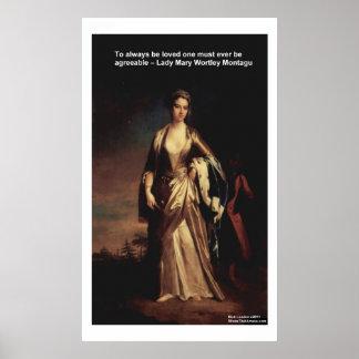 De Aangename Posters van dame Mary Montagu Quote L