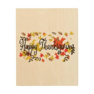 De achtergronden van de Thanksgiving. Het Hout Afdruk
