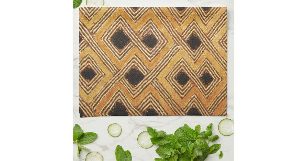de afrikaanse textiel van za239re de kongo kuba theedoeken