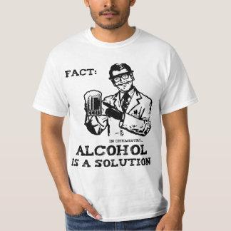 De alcohol is een Oplossing in Retro Chemie T Shirt