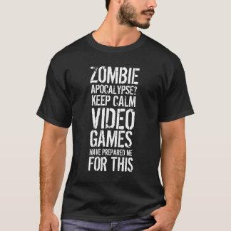 De apocalyps van de zombie - houd kalm ik ben een t shirt