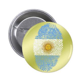 De Argentijnse vlag van de aanrakingsvingerafdruk Ronde Button 5,7 Cm
