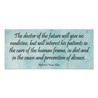 De arts van de Toekomst - Edison Quote Print