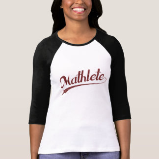 De Atleet van de Wiskunde van All Star Mathlete T Shirt