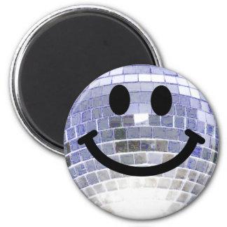 De Bal Smiley van de disco Koelkast Magneet